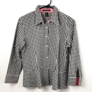 Lauren Ralph Lauren Women's Gingham Checkered Top